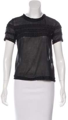Sonia Rykiel Sonia by Ruffled Short Sleeve Top