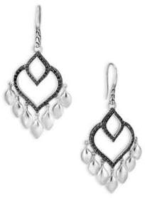 John Hardy Legends Naga Silver Chandelier Earrings