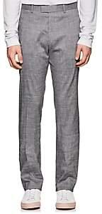 Theory Men's Mayer Slub Linen-Blend Trousers - Gray