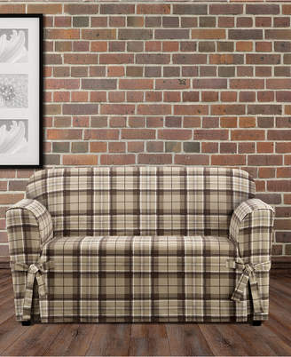 Sure Fit CLOSEOUT! Highland Plaid 1-Pc. Loveseat Slipcover