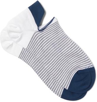Marcoliani Striped Cotton-Blend No-Show Socks $21 thestylecure.com