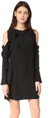 3.1 Phillip Lim Long Sleeve Cold Shoulder Dress $695 thestylecure.com