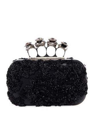 Alexander McQueen Jewelled Four Ring Clutch Bag