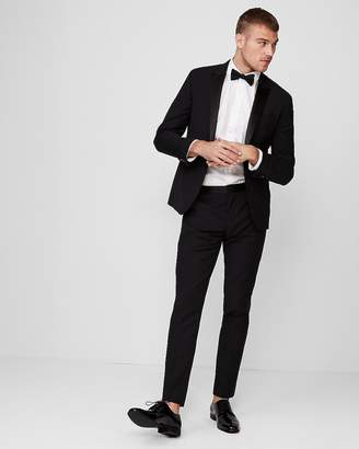 Express Extra Slim Black Wool-Blend Performance Tuxedo Pant