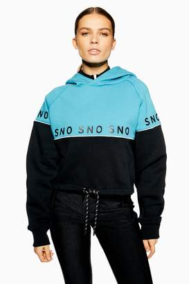 Topshop Womens **Blue Hoodie By Sno - Blue