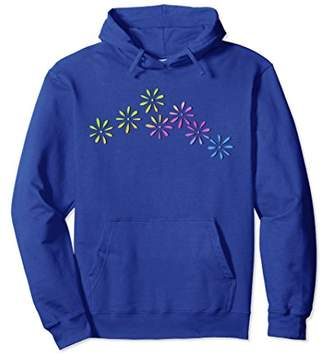 Bohemian Flower Hoodie With Pastel Flowers Graphic