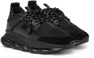Versace Chain Reaction Panelled Mesh Sneakers - Men - Black