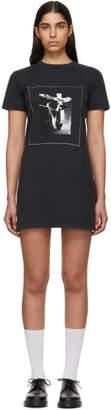 ALEXACHUNG Black Basic Step T-Shirt Dress