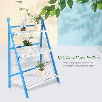 EECOO Multi Layer Flower Stand Foldable Flower Plant Pots Rack Plant Display Shelf Rack for Balcony Living Room Garden Patio