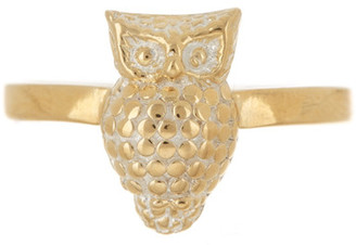 Anna Beck 18K Gold Plated Sterling Silver Owl Ring $150 thestylecure.com
