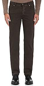 Marco Pescarolo Men's Stretch Cotton-Cashmere Five-Pocket Pants-Dark Gray