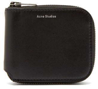 Acne Studios Kei S Leather Zip Around Wallet - Mens - Black