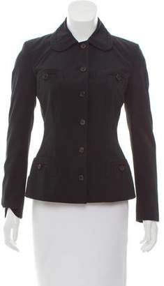 Prada Lightweight Rounded Collar Jacket