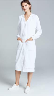 Tibi Shirred Cardigan Dress