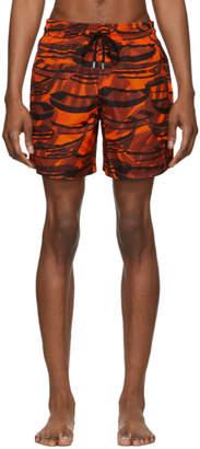 Vilebrequin Orange Comporta Mahina Swim Shorts