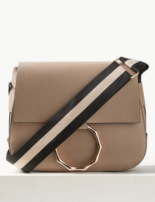 M&S CollectionMarks and Spencer Faux Leather Bamboo Saddle Cross Body Bag
