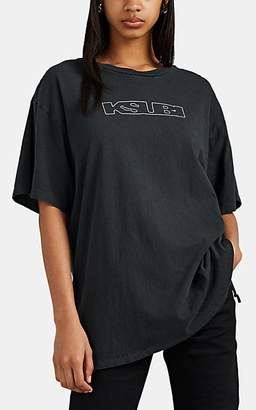 Ksubi Kendall Jenner for Women's Logo Cotton Oversized T-Shirt - Black