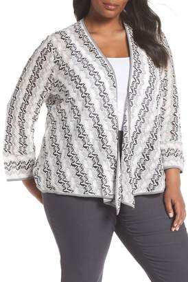 Nic+Zoe Covered Up 4-Way Convertible Cardigan (Plus Size)