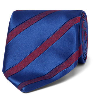 Charvet 7.5cm Striped Wool And Silk-Blend Jacquard Tie