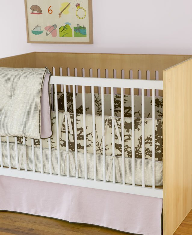 DwellStudio Baby Crib Bedding - Forest Petal Linen
