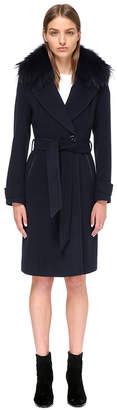 Mackage NIA TAILORED WOOL COAT WITH FUR COLLAR