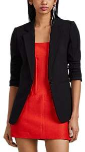 Derek Lam 10 Crosby Women's Bowery Cotton-Blend One-Button Blazer - Black