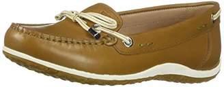 Geox Women's Vega B Leather Moccasin Shoe,37.5 M EU (7.5 US)