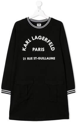 Karl Lagerfeld TEEN logo print sweatshirt dress
