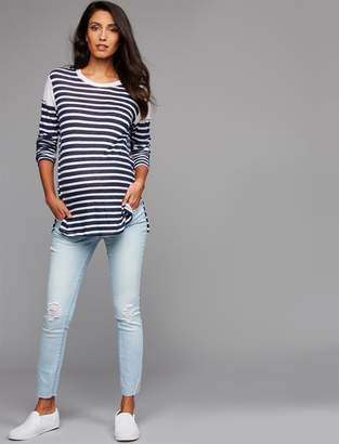 A Pea in the Pod Articles of Society Secret Fit Belly Carly Crop Maternity Jeans