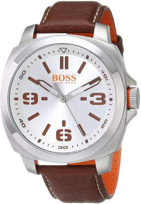 BOSS ORANGE Men's 1513097 BRISBANE Analog Display Quartz Brown Watch