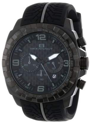Oceanaut Men's OC1123 Racer Chronograph -and-Gray Stainless Steel Watch with Tire-Tread Band