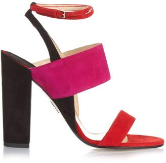 Paul Andrew Colour-block suede sandals