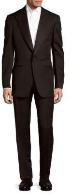 Modern Fit Solid Wool-Blend Suit $3,965 thestylecure.com