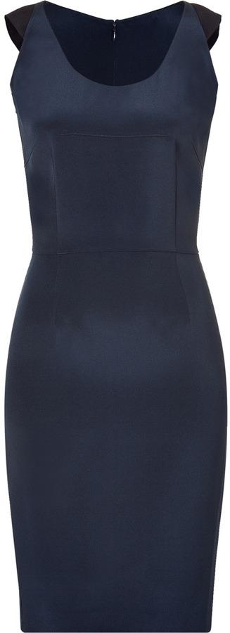 Sophie Theallet Dark Blue Silk Crepe Sheath Dress