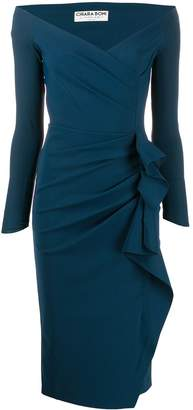 Chiara Boni Le Petite Robe Di side ruffle fitted dress