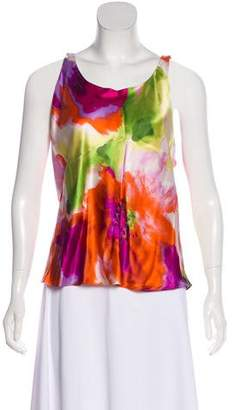 Josie Natori Silk Sleeveless Blouse