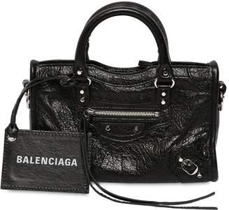 Balenciaga Mini City Leather Strap Logo Bag