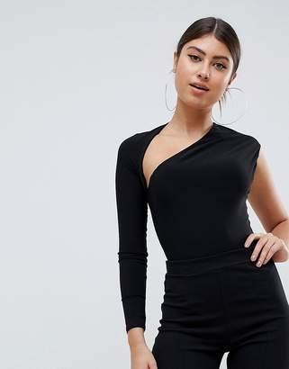 Club L one shoulder body in black