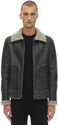Salvatore Santoro Leather Jacket W/ Shearling Lining