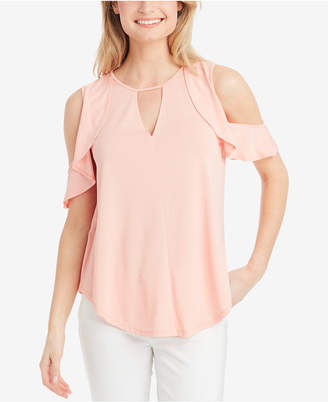 Jessica Simpson Ruffled Cold-Shoulder Top