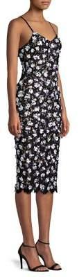 Michael Kors Scattered Rose Embroidered Slip Dress
