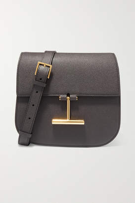 Tom Ford Tara Mini Textured-leather Shoulder Bag - Dark gray
