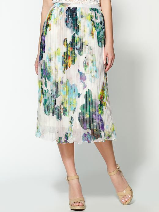Jack by BB Dakota Monet Pleated Midi Skirt