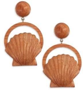 Rebecca de Ravenel Venus Bayong Wood Drop Earrings