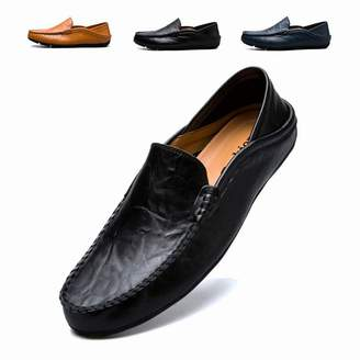 90e09cf9034 RDGO Penny Loafers Men Shoes Slip On Moccasins Driving Shoes Lightweight  Flats Leather Casual Boat Shoes