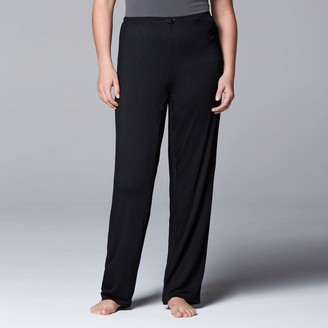 Vera Wang Plus Size Simply Vera Pajamas: Basic Luxury Pajama Pants