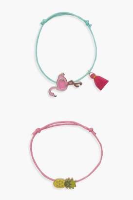 boohoo Girls 2 Pack Pineapple Bracelet