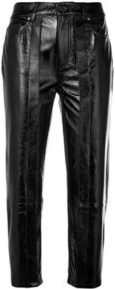 Aalto cropped waxed trousers