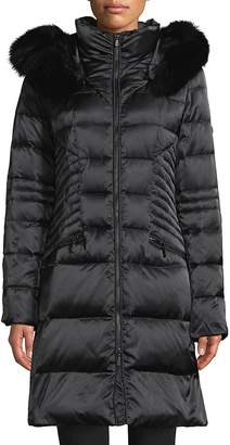 1 Madison Women's Hooded Puffer Down Coats