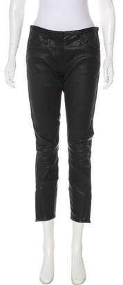 3.1 Phillip Lim Lamb Leather Mid-Rise Pants